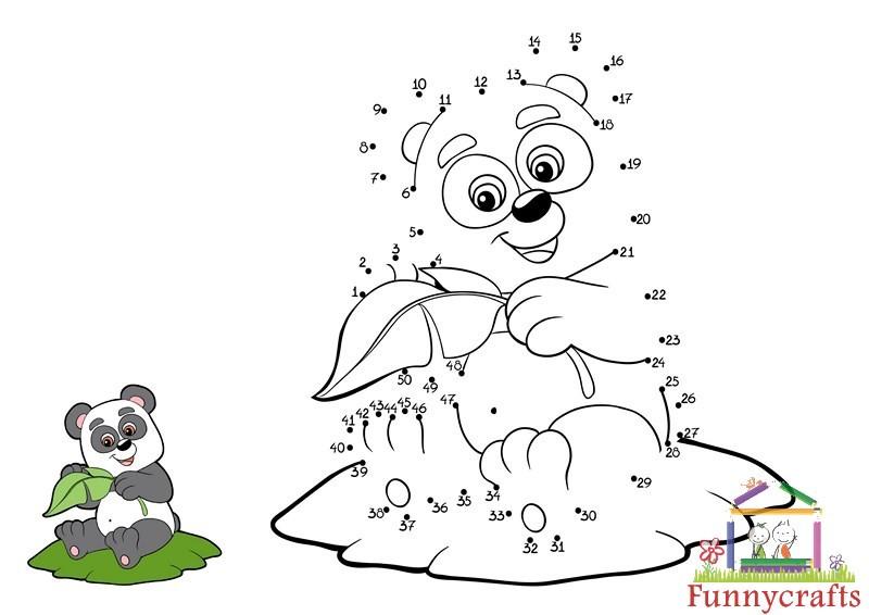 panda dot to dots sheet « Preschool and Homeschool