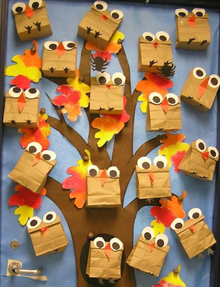 owl door decoration idea  Preschool and Homeschool