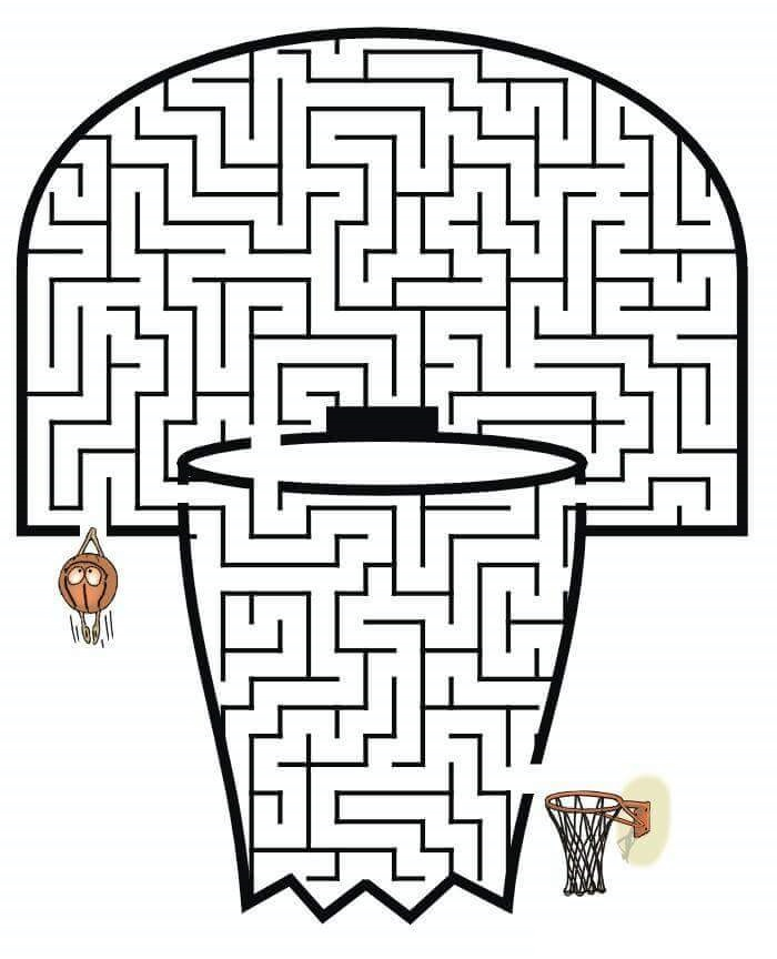 basketball maze worksheets « Preschool and Homeschool