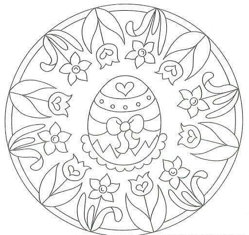 easter egg mandala coloring pages (1) « Preschool and
