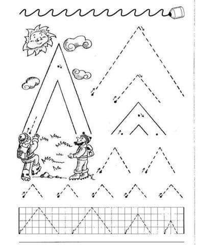 kindergarten alphabet handwriting practice printable, (1