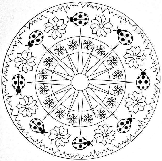 mandala coloring pages (2) « Preschool and Homeschool