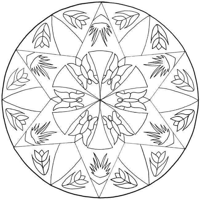 mandalas coloring pages & printables (2) « Preschool and