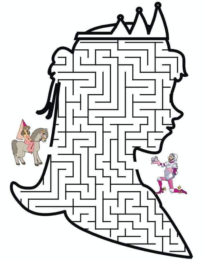 queen maze worksheets « Preschool and Homeschool