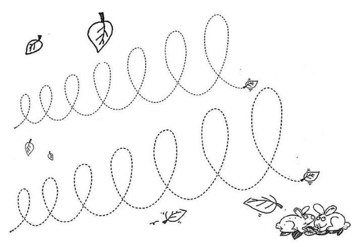 rabbit pre writing sheet « Preschool and Homeschool
