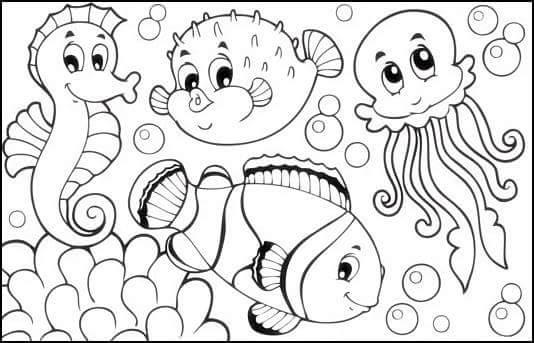 sea horse coloring page (2) « Preschool and Homeschool