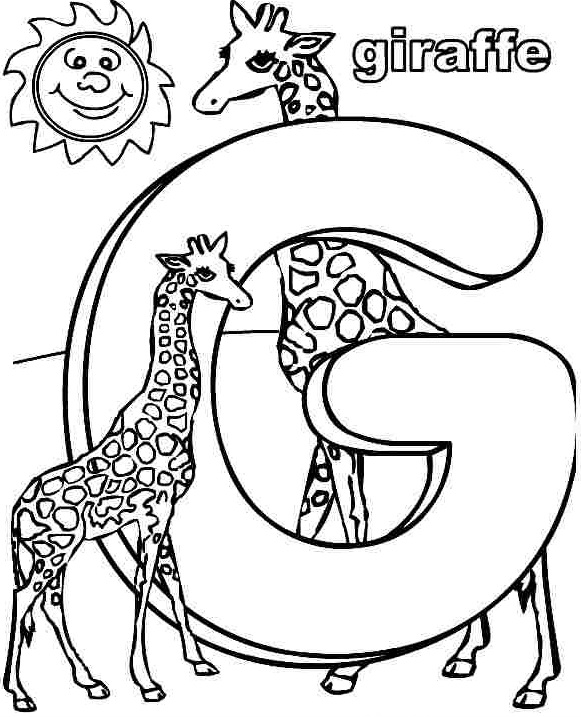 g-is-for-giraffe-coloring-page « Preschool and Homeschool