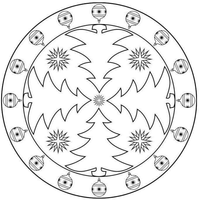 christmas mandalas coloring (7) « Preschool and Homeschool