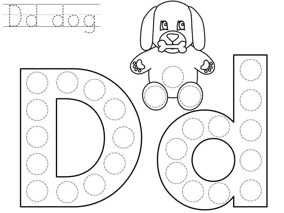 do-a-dot-letter-d-printable « Preschool and Homeschool