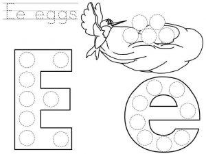 do-a-dot-letter-e-printable « Preschool and Homeschool