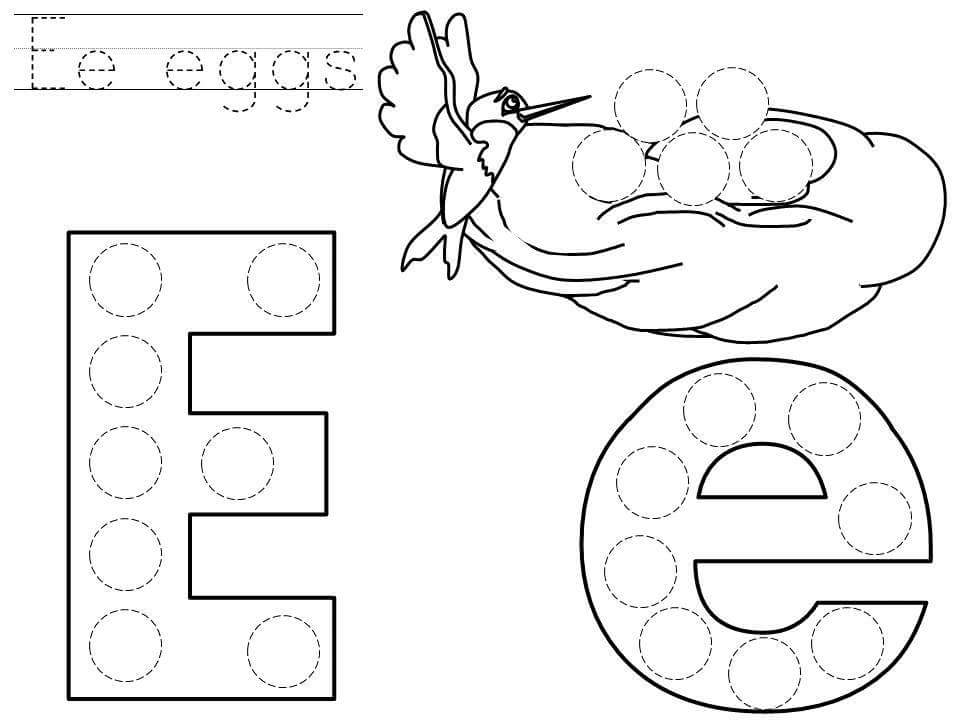do-a-dot-letter-e-printable « funnycrafts