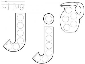 do-a-dot-letter-j-printable « Preschool and Homeschool