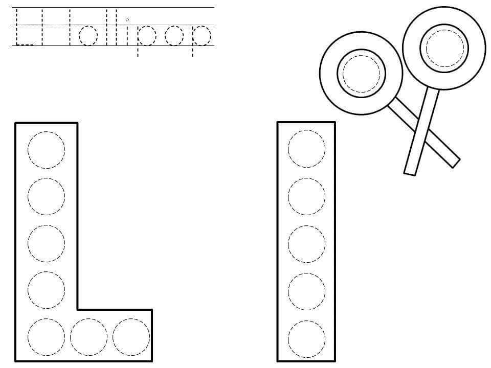 do-a-dot-letter-l-printable « Preschool and Homeschool