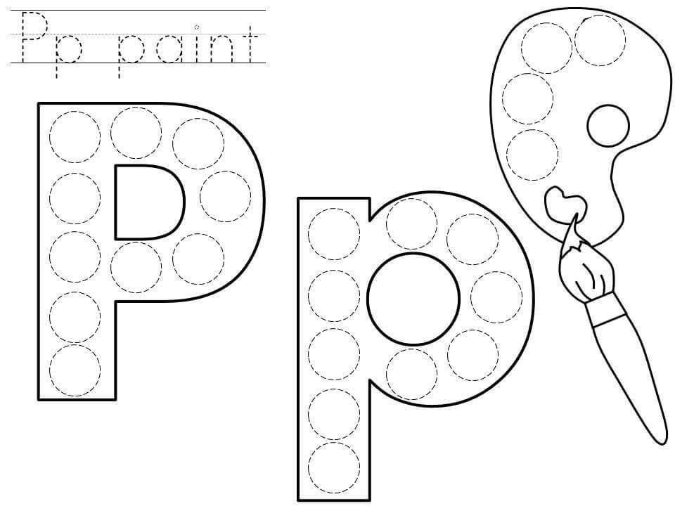 Preschool Activity Sheets Dots