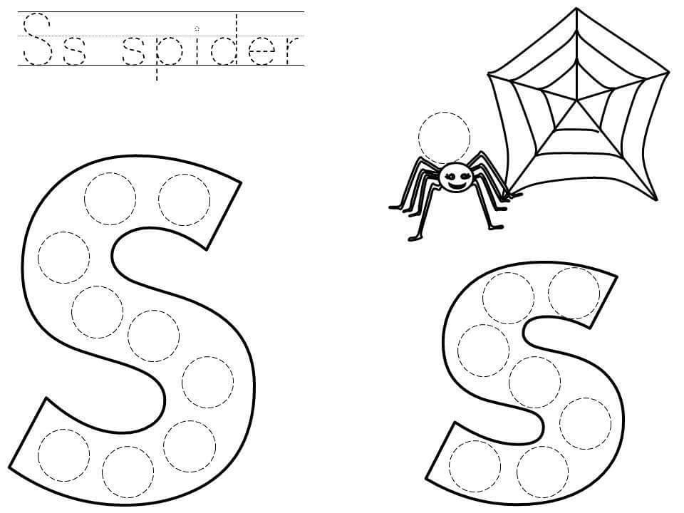 do-a-dot-letter-s-printable « Preschool and Homeschool