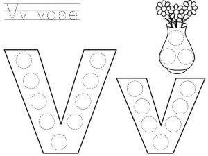 do-a-dot-letter-v-printable « Preschool and Homeschool
