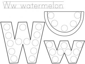 do-a-dot-letter-w-printable « Preschool and Homeschool