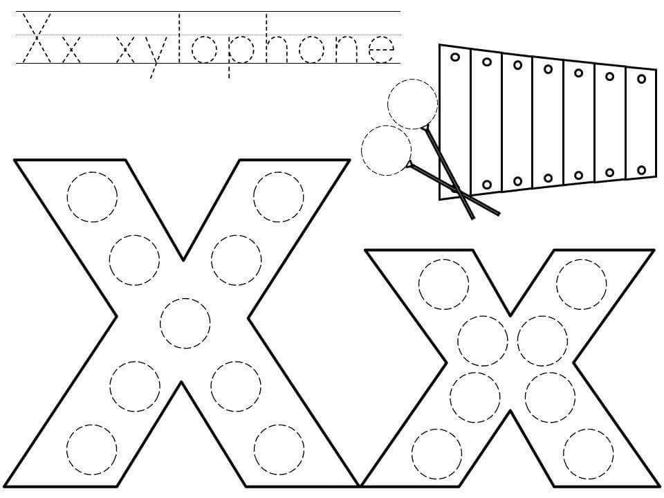 Worksheet For Preschoolers Letter Xx Printables. Worksheet