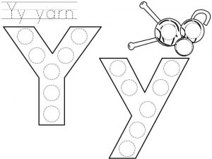 Do A Dot Letter Y Printable Preschool And Homeschool
