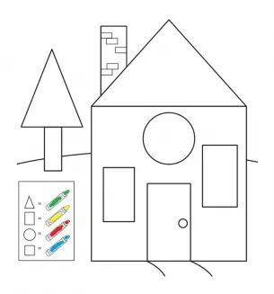 fun shapes coloring page « Preschool and Homeschool