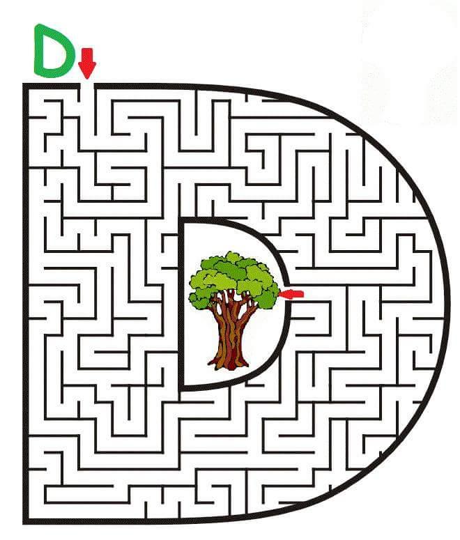 letter D maze (2) « funnycrafts