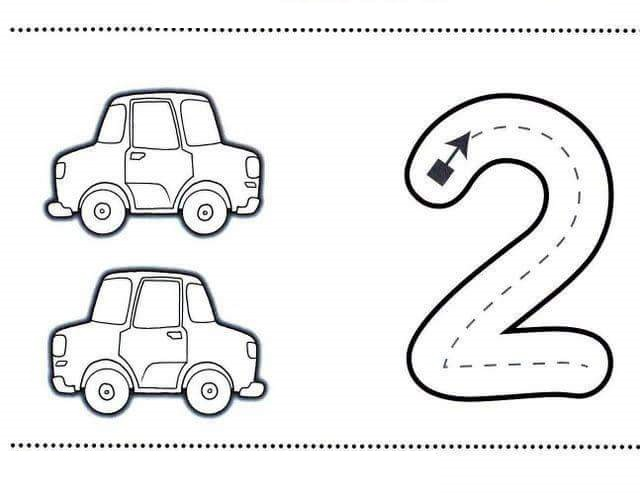 number-two-learning-coloring-pages-7 « Preschool and