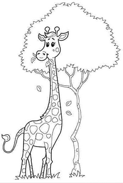 preschool-giraffe-coloring-pages-7 « Preschool and Homeschool