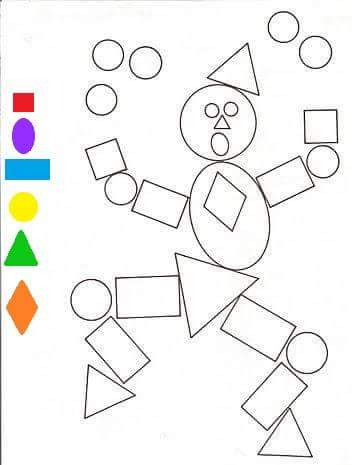 shapes coloring pages (2) « Preschool and Homeschool