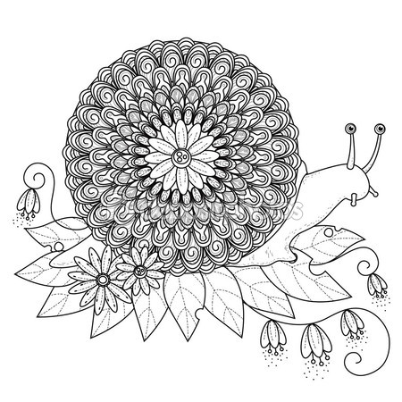 snail coloring pages (4) « Preschool and Homeschool