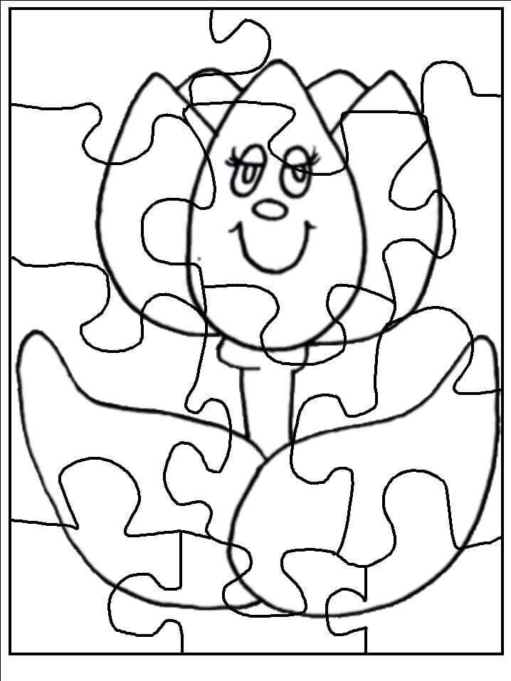 make-a-puzzle-coloring-page-flower-2 « Preschool and