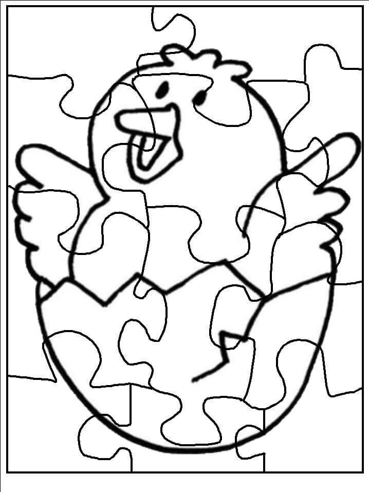 puzzle-coloring-pages-to-print-chick-2 « Preschool and