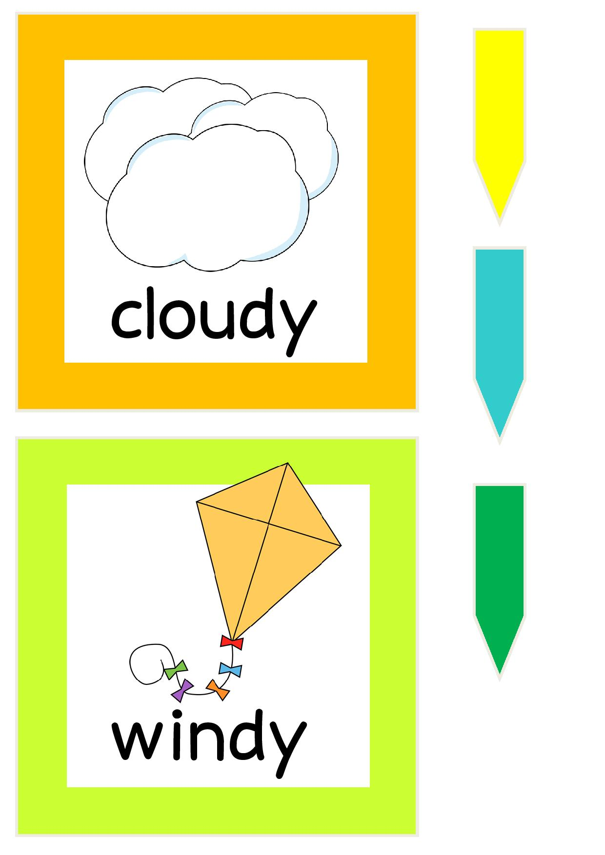 Weather Printables 2 Funnycrafts