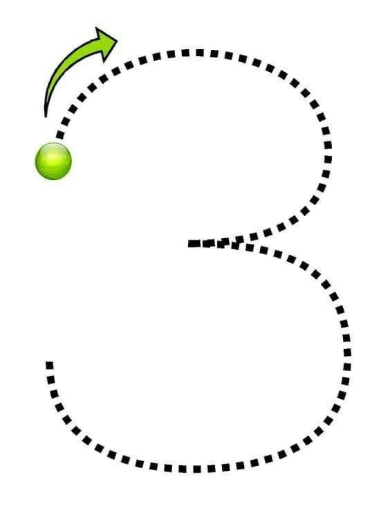 number-three-tracing-free-printable-worksheets « Preschool