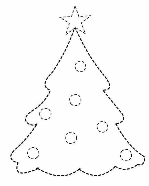christmas tree pre-writing worksheets for kids « Preschool
