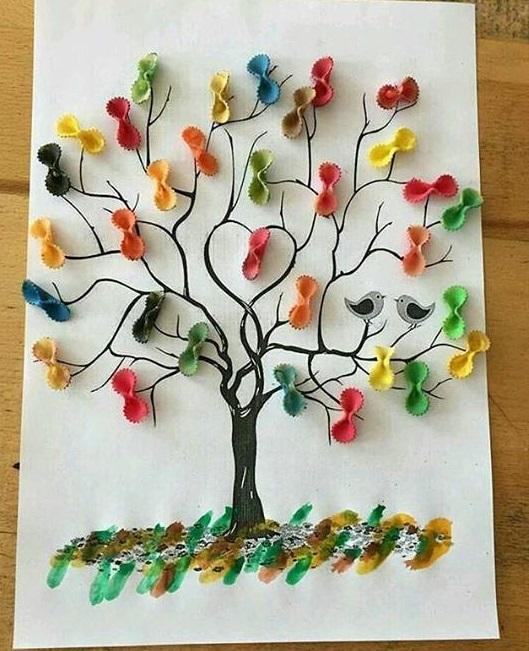 Macaroni Tree Craft Preschool And Homeschool