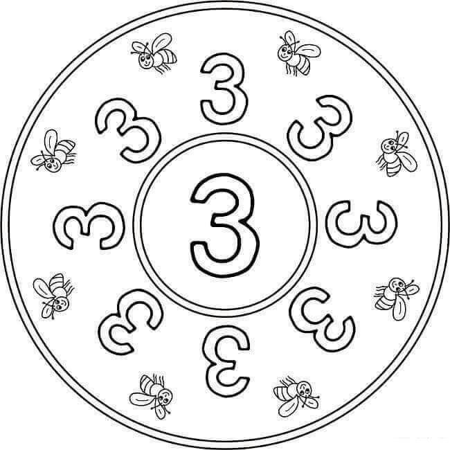 number three mandala « funnycrafts