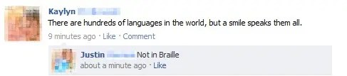 Not in Braille