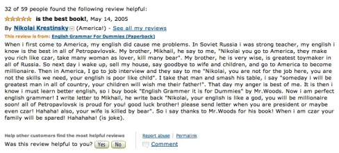 Amazon English Customer Book Review