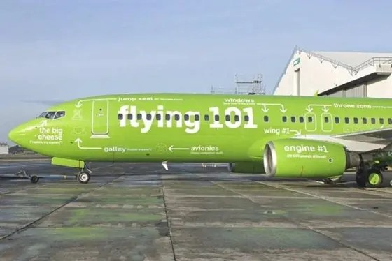 Funny Kulula South African airline plane