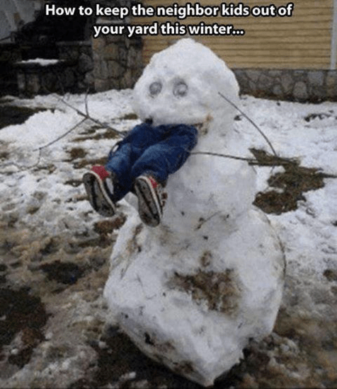 How to keep neighbor kids out of your ard this winter