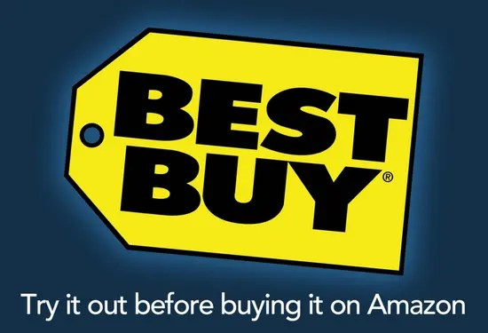 Best Buy - try it out before you buy it on Amazon