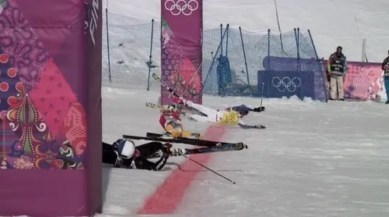 Funny Sochi Olympics photo finish