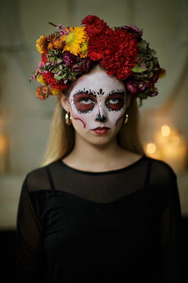 Create Your Own Dia De Los Muertos Flower Crown Funny