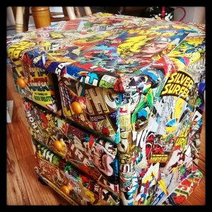 When the comic books get ripped? You can upcycle a set of drawers. Here's one I did earlier.