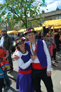 Two of the nicest Morris Dancers in the world. Honest!