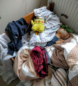 Pokemon Go fans found Pikachu. Sadly they didn't tidy their bedroom en route...