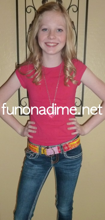 Recycled Candybar wrapper belt