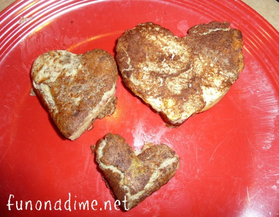 Heart French Toast