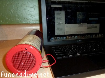 how to get a Pringles speaker can