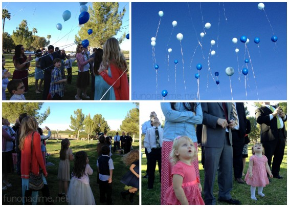 Balloons at Funeral - Fun On a Dime
